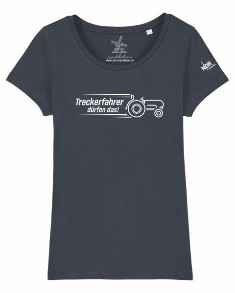 Damen T-Shirt Dunkelblau